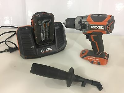 RIDGID 18-Volt Lithium-Ion 1/2 in. Cordless Compact Hammer Drill Kit #1084