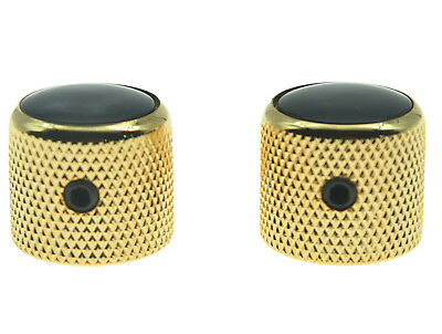 Gold Dome Guitar Potentiometer Knobs with Set Screws Cool look! 8pc