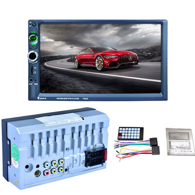 """New 7"""" 2 DIN Car Console Player Kit HD CTS Screen FM Stereo DVR Recorder Input"""