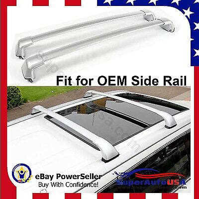 For 14-2018 Toyota Highlander XLE Limited OE Style Roof Rack Cross Bars Silver