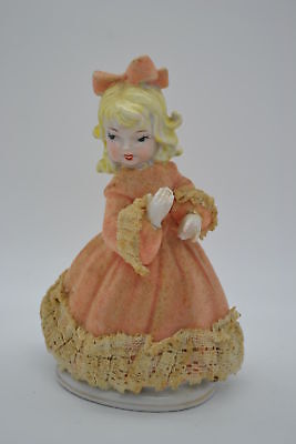 Vintage Beautiful Girl Ornament Statue