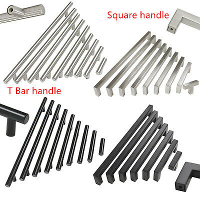 Probrico Stainless Steel Door Handles Kitchen Cabinet Square and T bar Knobs