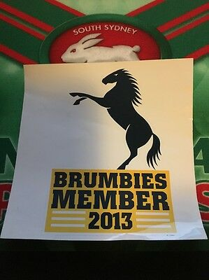 2013 ACT Brumbies Super Rugby Member Car Sticker