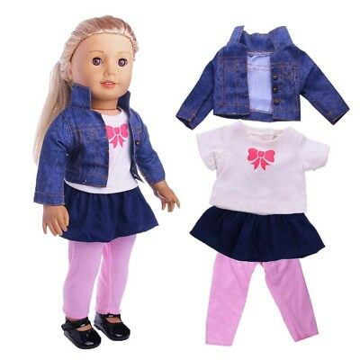 1set Cute Doll Clothes Wear for 43cm Baby Born zapf or American Girl Doll