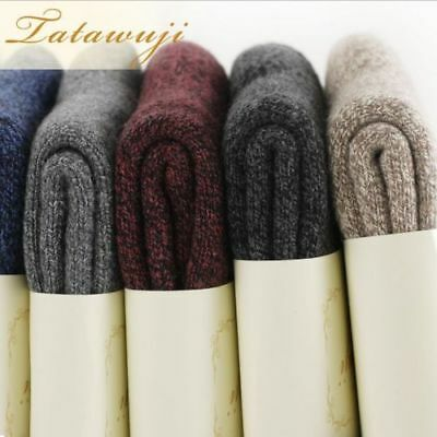 10 Pairs Wool Cashmere Men/Women Thick Warm Dress Casual Solid Socks Lot Winter