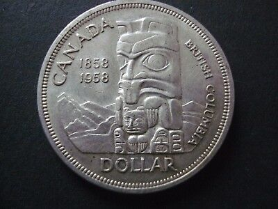 1958 Canadian Dollar ( British Columbia) With Totem Pole Great Condition.