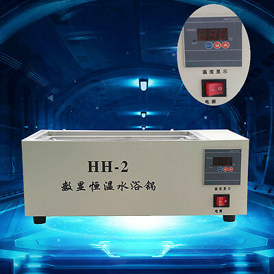 220V Digital Lab Thermostatic Two Double Holes Electric Heating Water Bath#