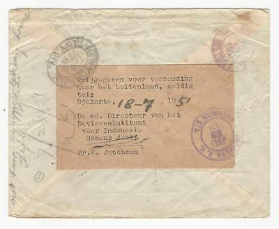 Indonesia registered cover President Soekarno  to USA with label released abroad