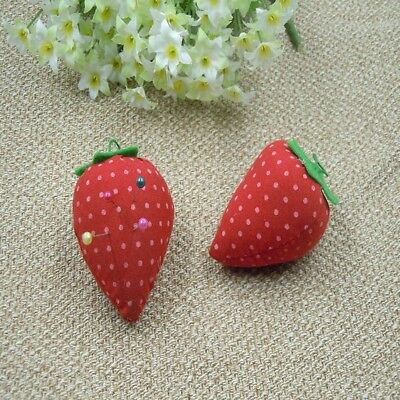 2x Cross Stitch Tools Strawberry Pin Cushion Embroidery Needle Inserted Sewing#