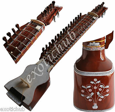 Dilruba~Designer Tun Wood With Bow~Dilroba~Rosin~Strings~Bow~Hand Made Indian