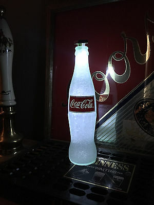 Coke Coca Cola 12 oz Beer Bottle Light LED Bar Man Cave