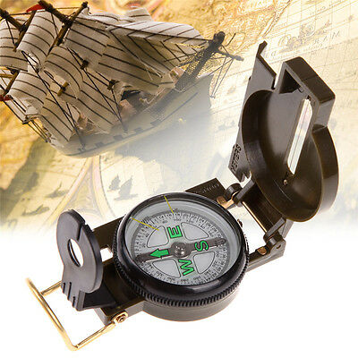 Small Metal Pocket Compass for Hiking Camping Navigation Map Orientation#