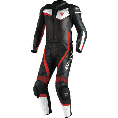 Motorcycle Dainese Veloster 2 Piece Suit - Black White Red UK Seller