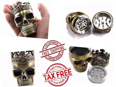 Unique Herbal Grinder Herb Mill Tobacco Smoke Kitchen Crusher Metal Skull King