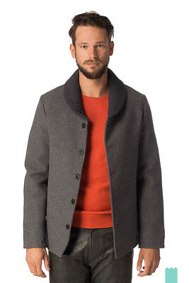 SCOTCH & SODA Size L Men's 31106 Wool Blend Shawl Neck Coat Made in Italy