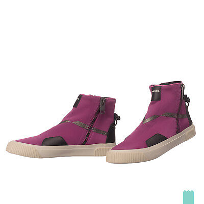 RRP €180 DIESEL Size 39 / UK 6 S-MUSTAVE AB W Textile Sneakers With Leather Trim