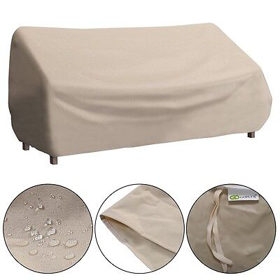 Outdoor Patio Waterproof 3 Seats Set High Back Sofa Cover Furniture Protector