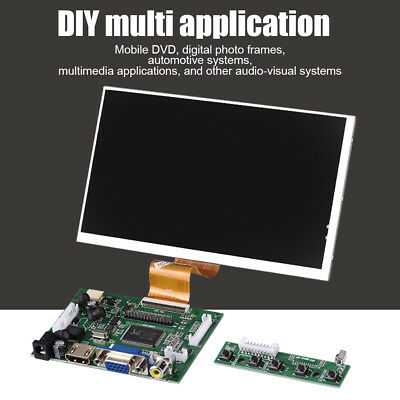 Pro Raspberry Pi2 3 HDMI VGA AV Driver Board+7'' 1024X600 TFT Display Screen Kit