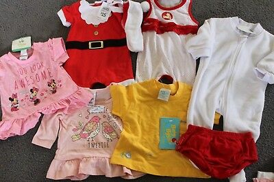 BULK x 7  New Items of BABY GIRLS CLOTHING - disney/xmas/Baby B'gosh size 000