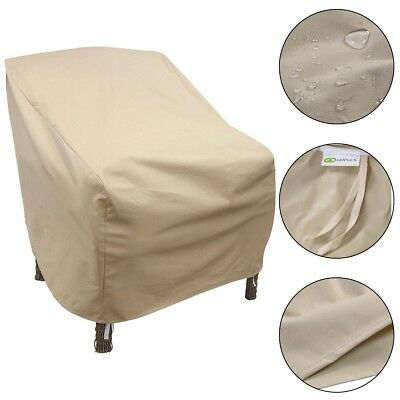 Outdoor Patio Oxford Waterproof High Back Single Chair Cover Furniture Protector