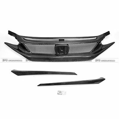 EPR Front Bumper Grill For Honda 10th Generation Civic FC CM-Style Carbon Fiber