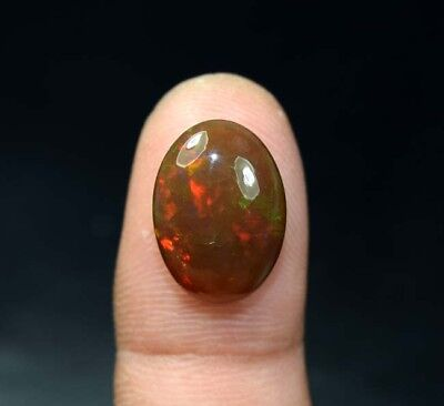 7.60 Cts. 100 % Natural Multi Fire Ethiopian Black Opal Oval Cab Loose Gemstones