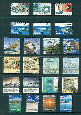AUSTRALIA COCOS ISLANDS collection of Fine Used sheet stamps (167 stamps)