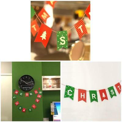 Merry Christmas Letter Garland Bunting Banner Christmas Flags Party J&C about 2m