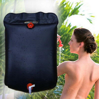 1x 20L Outdoor Camping Hiking Solar Energy Heated Camp Shower Pipe Bag Portable
