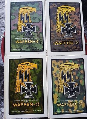 Uniforms, organization and history of the Waffen SS. Set of four.