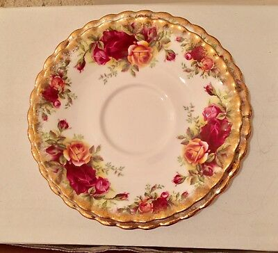 Royal Albert Saucer And Plate, Old country Roses