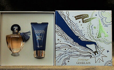 GUERLAIN SHALIMAR PARFUM INITIAL GIFT SET EDP 40ml /1.3 FL.OZ + BODY LOTION 75ML