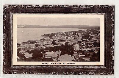 Vintage Postcard Albany From Mt. Clarence W.a 1910