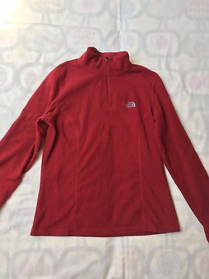 The North Face Damen Outdoor Mountain Bluse TKA 100 Shirt Gr. M Rot