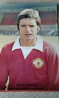 willie morgan manchester united large coffer poster