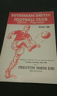 rotherham v preston 1961 league cup