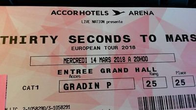 Thirty Seconds To Mars Place De Concert Accord Hotels Arena Paris