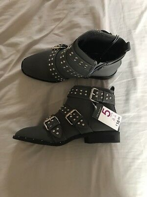 BNWT atmosphere Primark Grey Studded Chelsea Boots Size 5