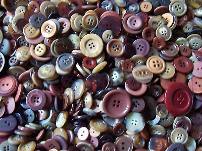 Mix Lot Brown Earth Tone Sewing Craft Button Bulk 100, 200, 300, 400, 500 1 LB.