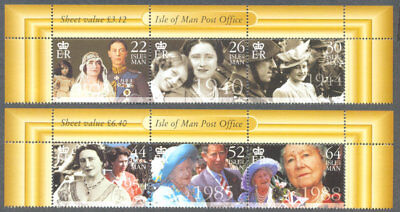 Isle of man-Queen Mother set mnh