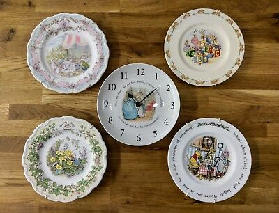 Brambley Hedge plates and clock