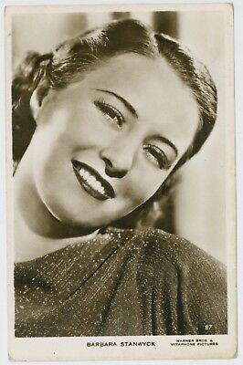 Actress Barbara Stanwych portrait postcard; unused