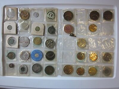 Lot of 109 New York World's Fair Tax Tokens Stamps & Other Souvenir Coins Bundle