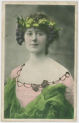 Actress / performer Miss Rubie (Ruby ?) Ray portrait postcard; early 1900's
