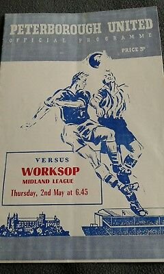 peterborough v worksop 1956/57
