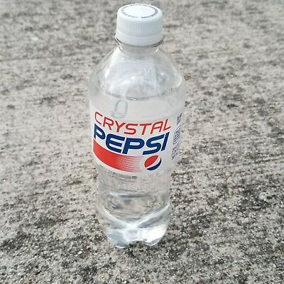 LOT OF 8 CRYSTAL PEPSI 20 oz RARE SOLD OUT Discontinued Oct 30 2017 Exp