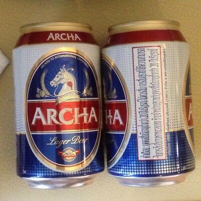 Thailand ARCHA 330ml empty beer can - Opened at bottom