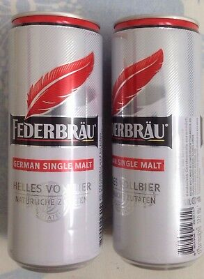 Thailand FEDERBRAU empty beer can - Opened at bottom