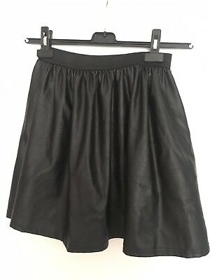 Lovely Ladies Skater Skirt Leather Like Size 12