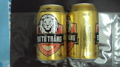 Vietnam LION 330ml empty beer can - Opened at bottom